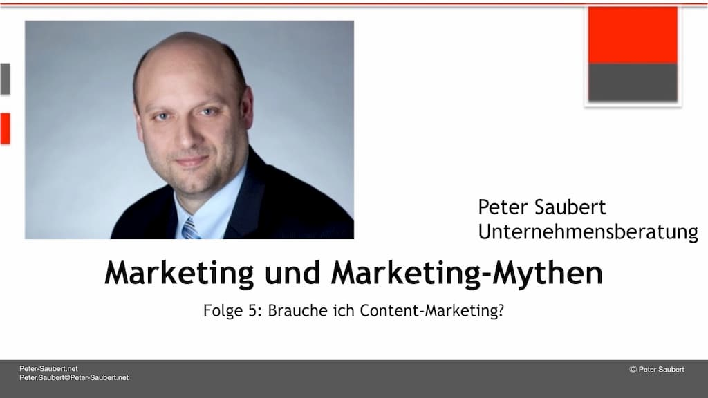 Marketing und Marketing-Mythen Folge 5: Brauche ich Content-Marketing?