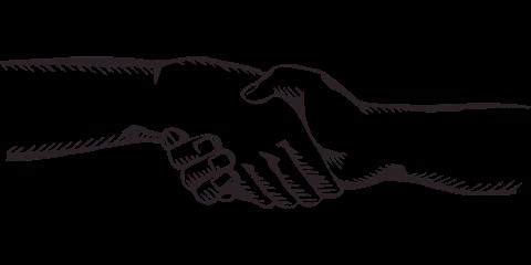 Kundengewinnung Handschlag